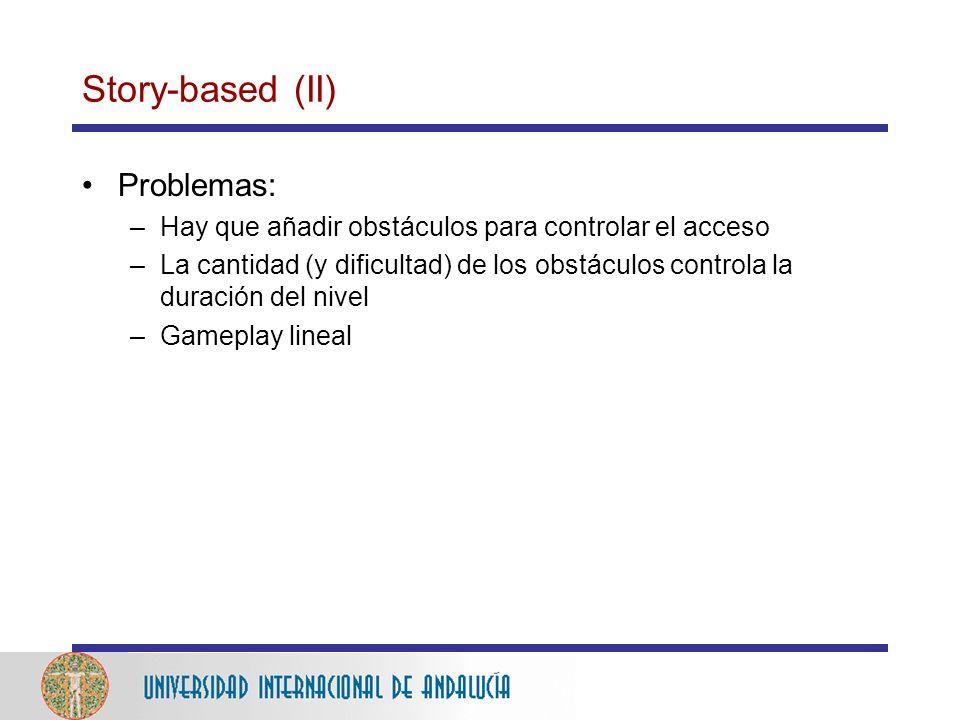 Story-based (II) Problemas: