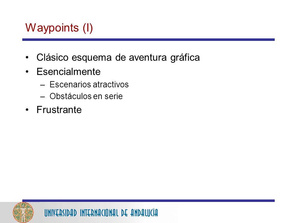 Waypoints (I) Clásico esquema de aventura gráfica Esencialmente