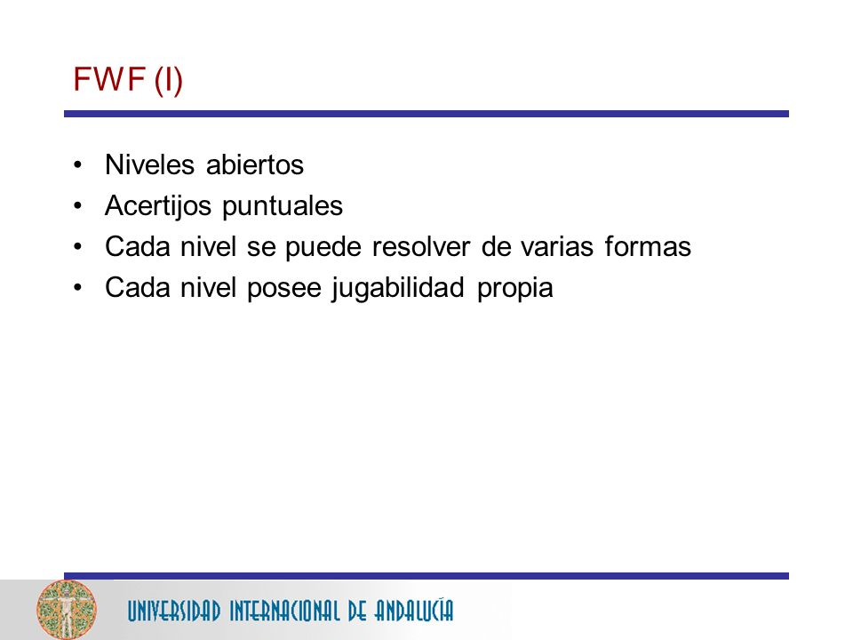 FWF (I) Niveles abiertos Acertijos puntuales