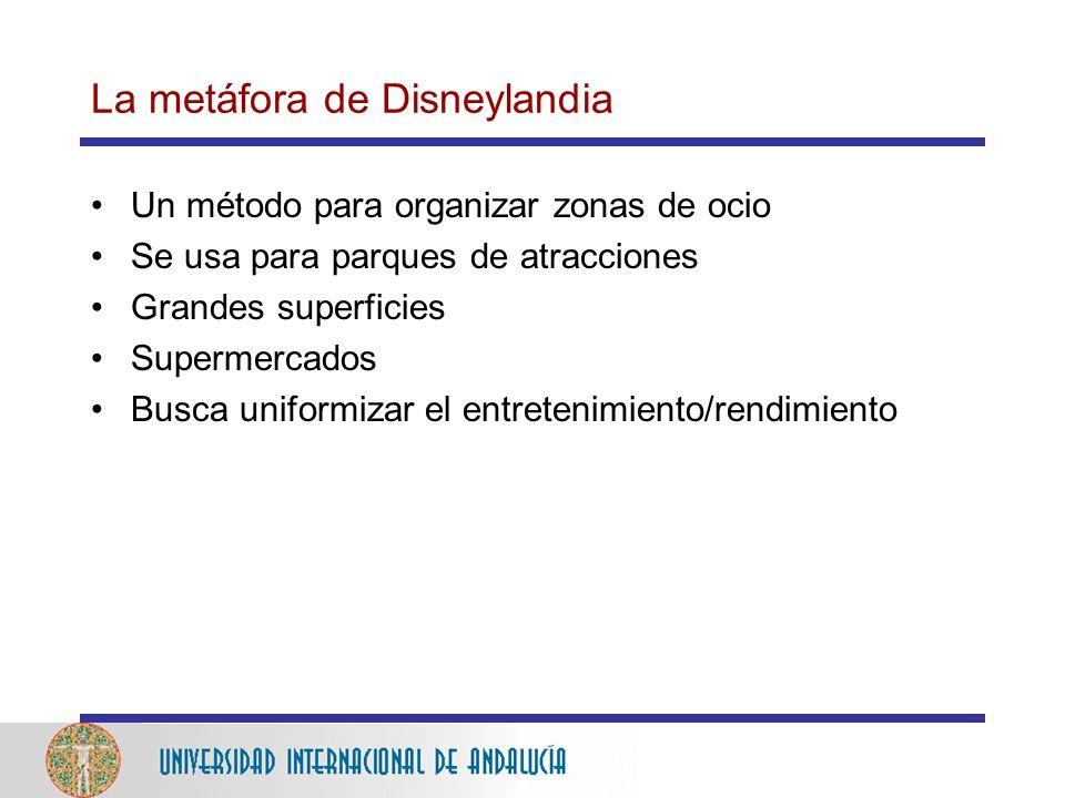 La metáfora de Disneylandia