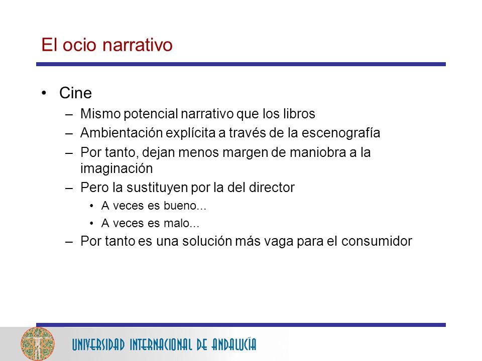 El ocio narrativo Cine Mismo potencial narrativo que los libros