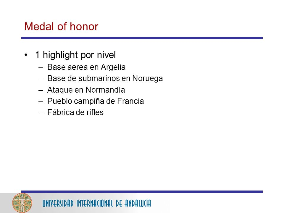 Medal of honor 1 highlight por nivel Base aerea en Argelia