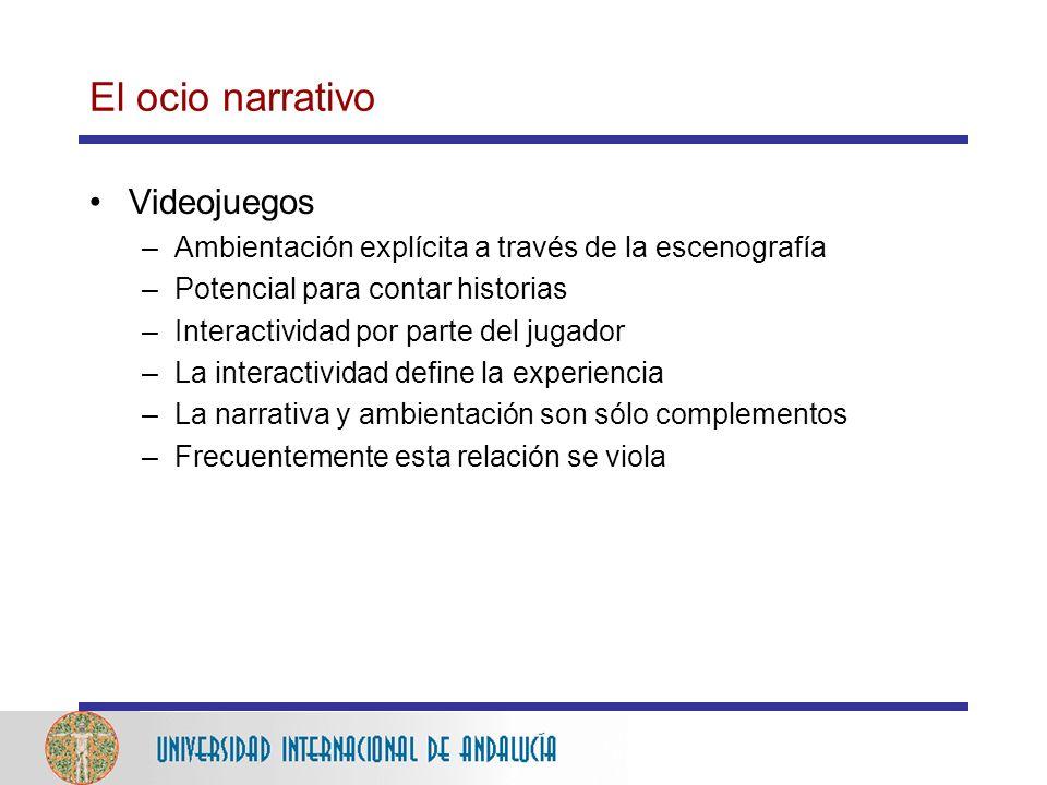 El ocio narrativo Videojuegos