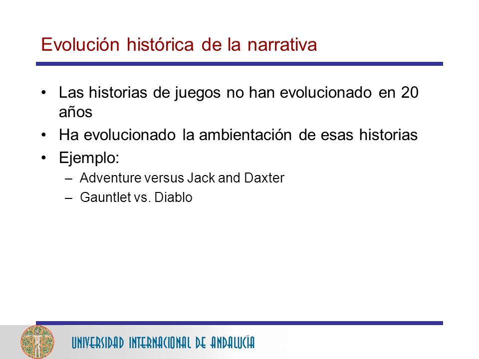 Evolución histórica de la narrativa