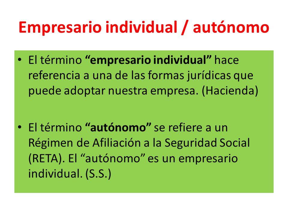 Empresario individual / autónomo