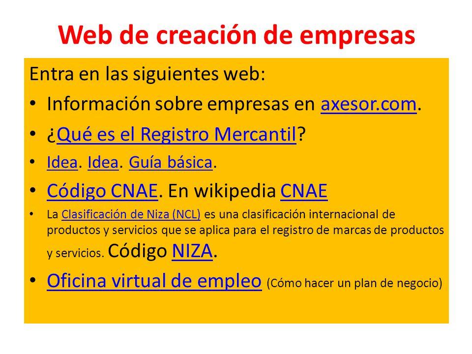 Web de creación de empresas
