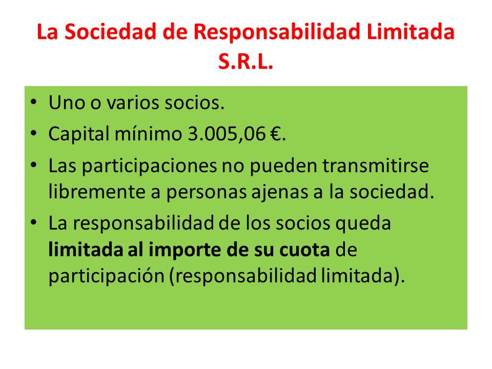 La Sociedad de Responsabilidad Limitada S.R.L.