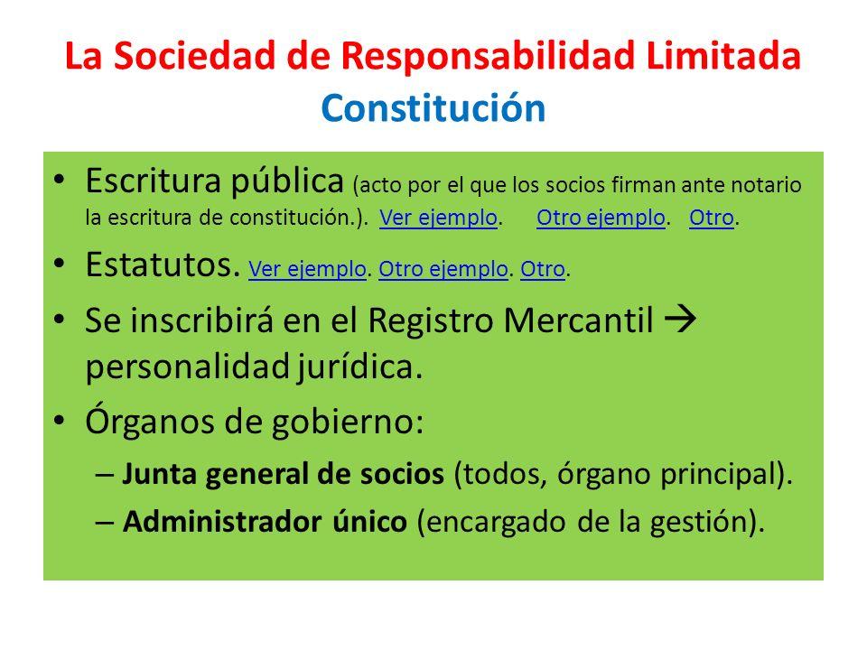 La Sociedad de Responsabilidad Limitada Constitución