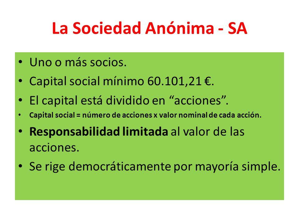 La Sociedad Anónima - SA