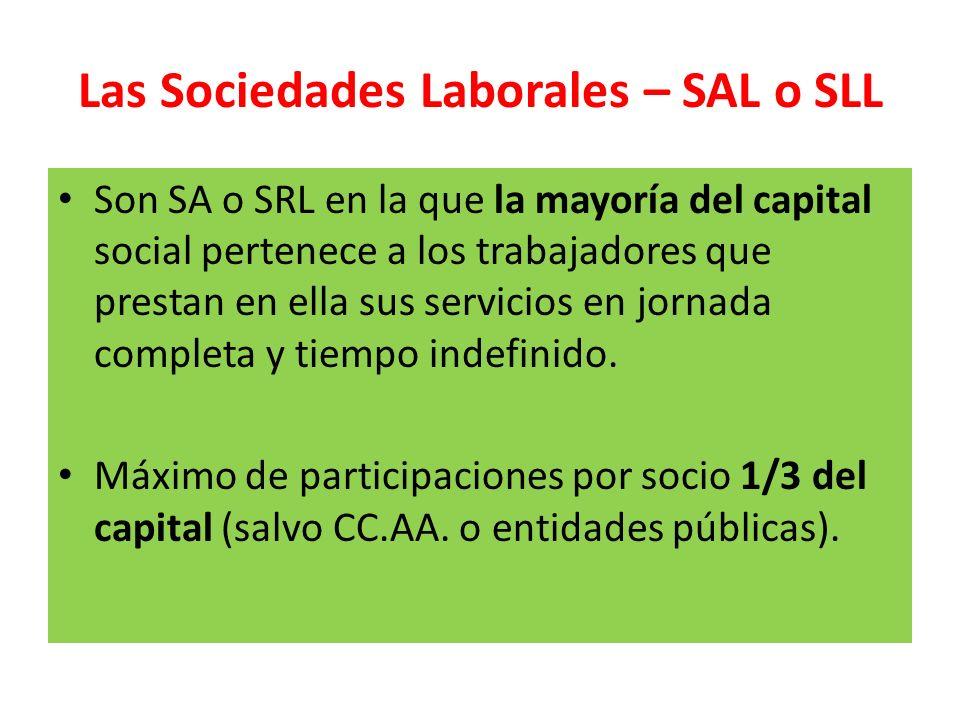 Las Sociedades Laborales – SAL o SLL