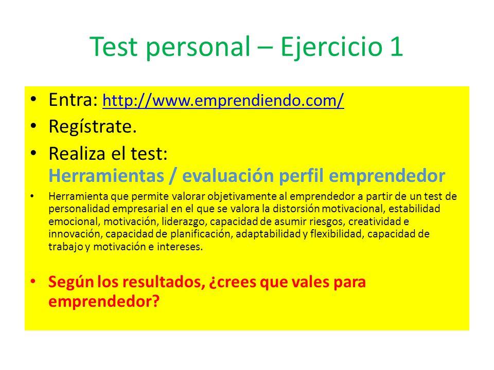 Test personal – Ejercicio 1