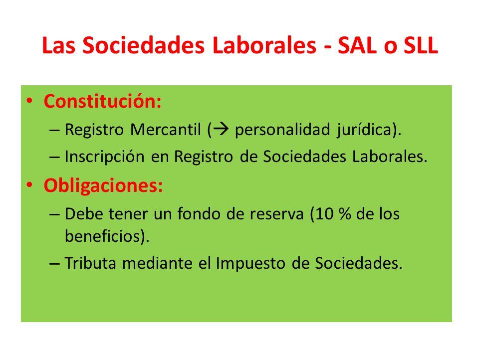 Las Sociedades Laborales - SAL o SLL