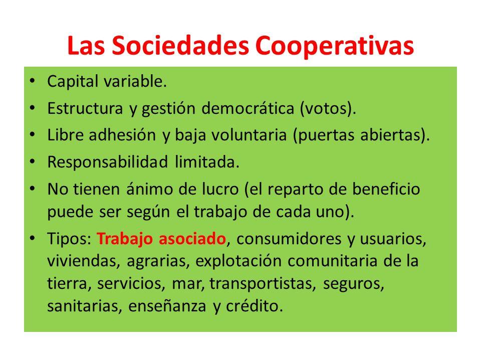 Las Sociedades Cooperativas