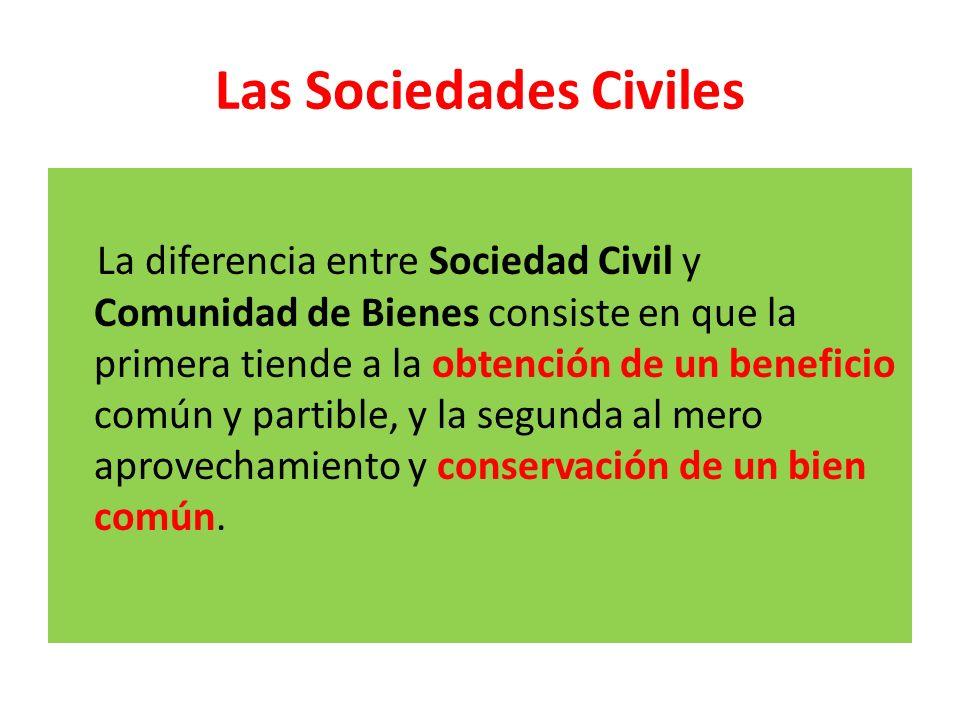 Las Sociedades Civiles