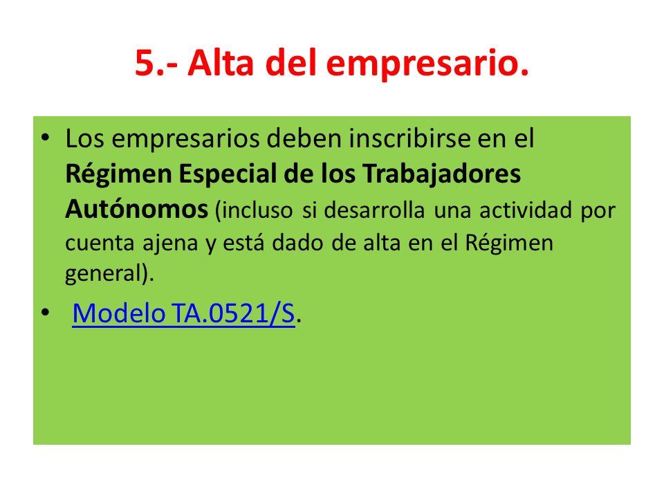5.- Alta del empresario.
