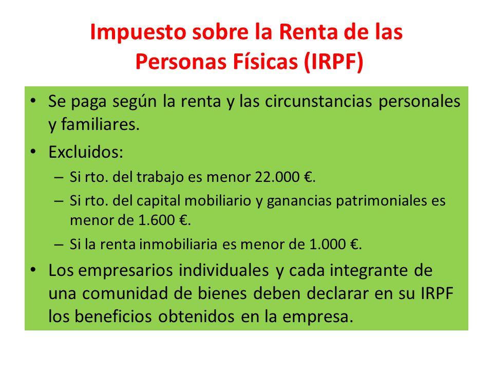 Impuesto sobre la Renta de las Personas Físicas (IRPF)