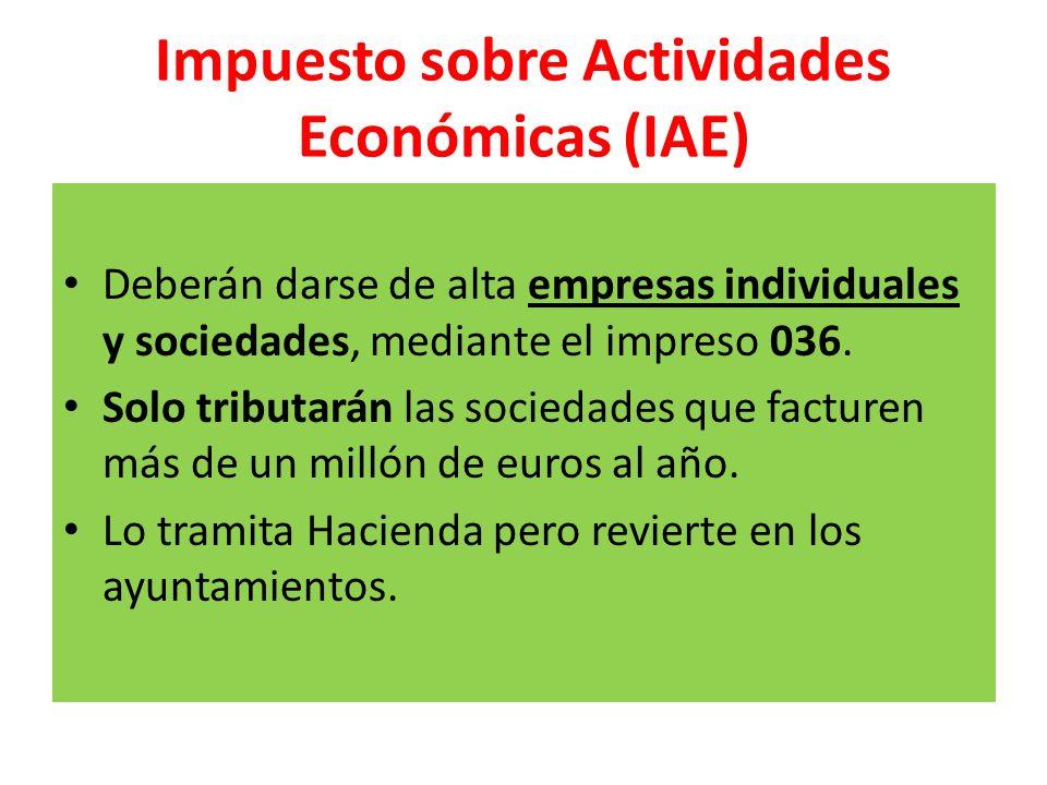 Impuesto sobre Actividades Económicas (IAE)