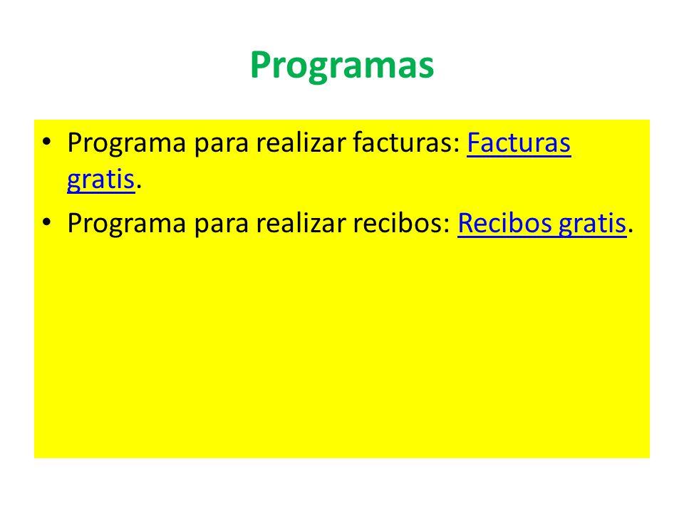 Programas Programa para realizar facturas: Facturas gratis.