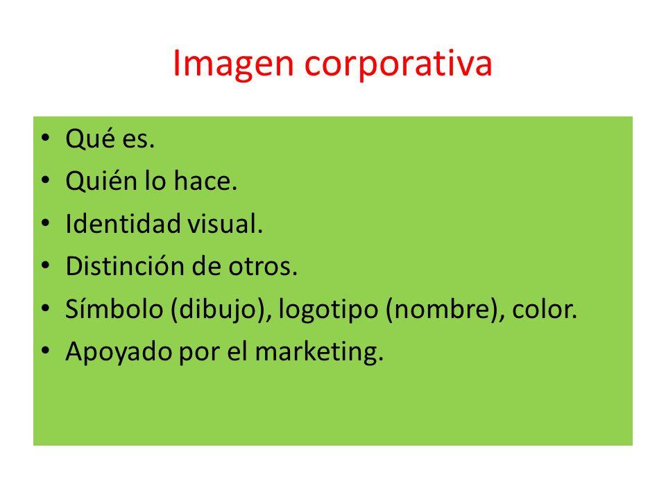 Imagen corporativa Qué es. Quién lo hace. Identidad visual.