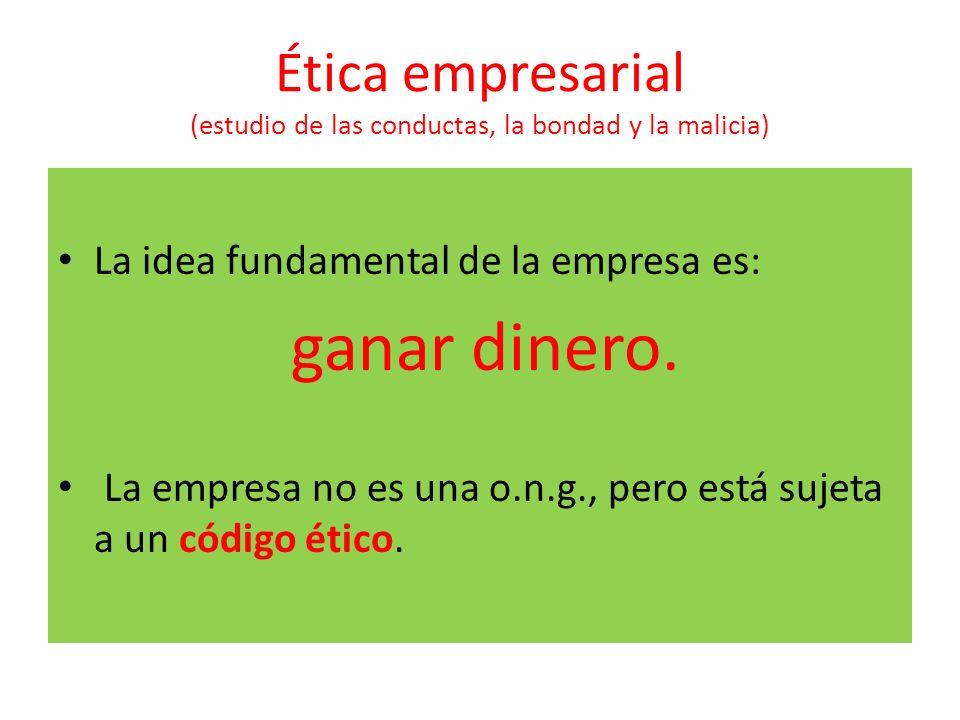 Ética empresarial (estudio de las conductas, la bondad y la malicia)