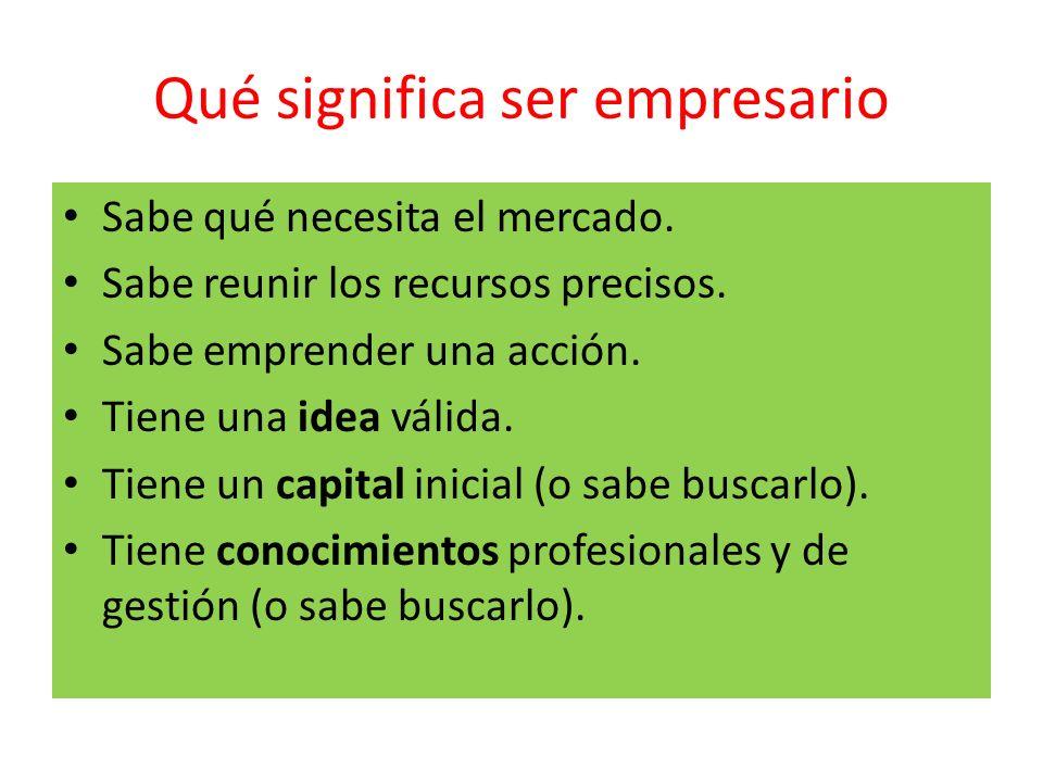 Qué significa ser empresario