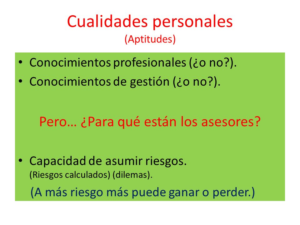 Cualidades personales (Aptitudes)