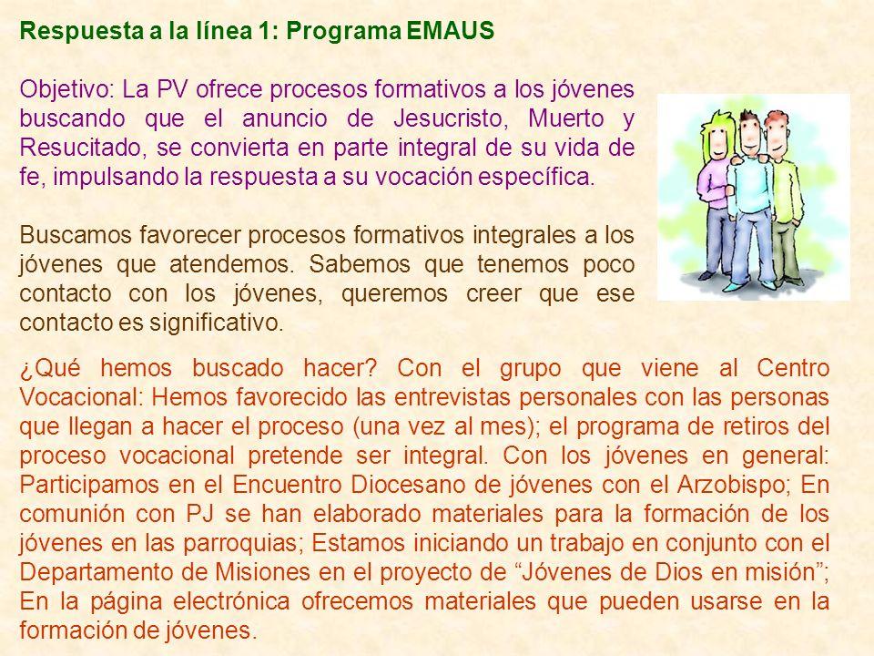 Respuesta a la línea 1: Programa EMAUS