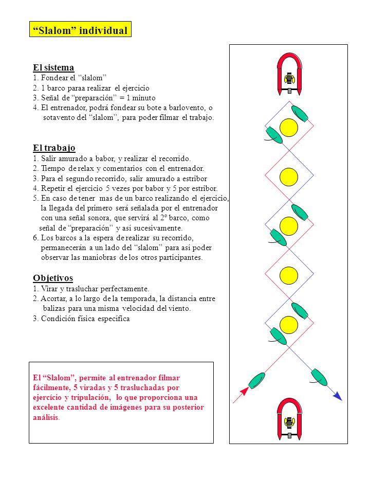 Slalom individual El sistema El trabajo Objetivos