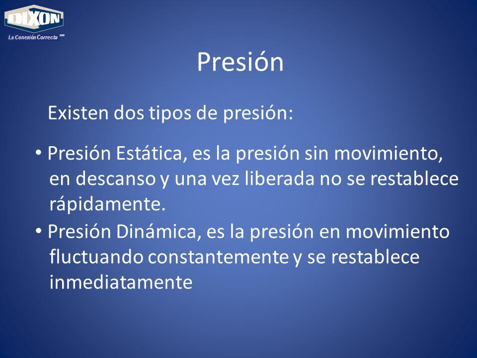 Presión Existen dos tipos de presión: