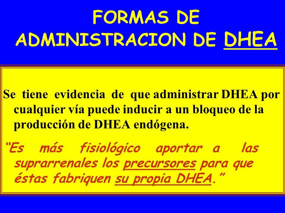 FORMAS DE ADMINISTRACION DE DHEA