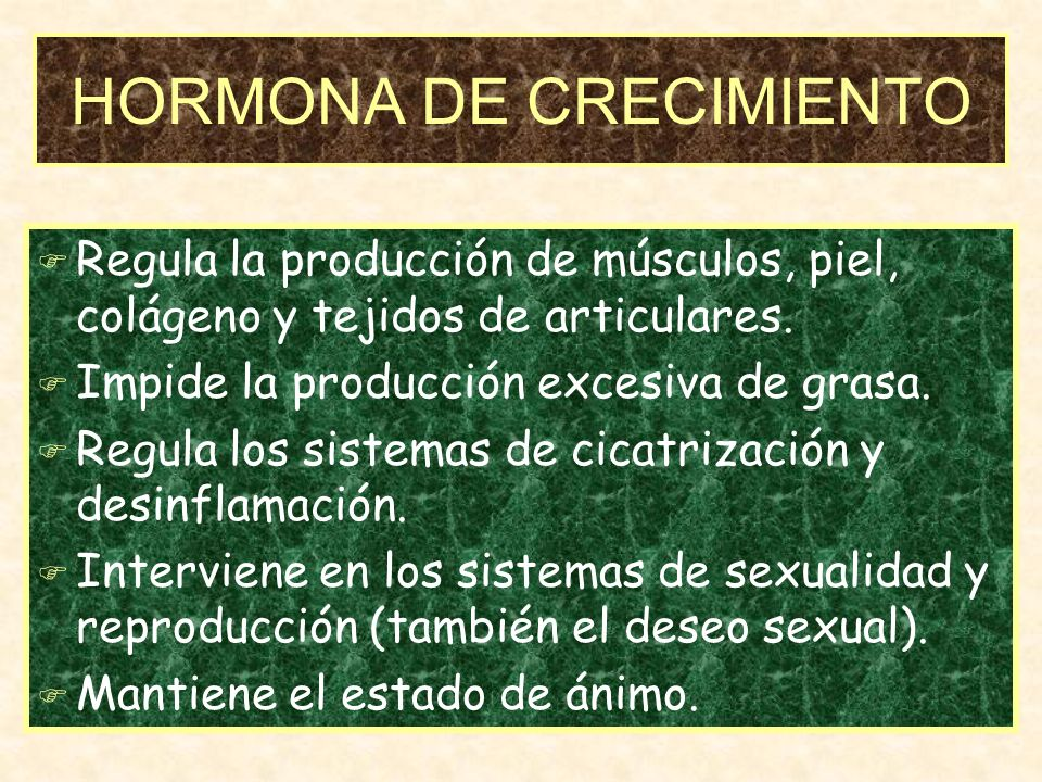 HORMONA DE CRECIMIENTO