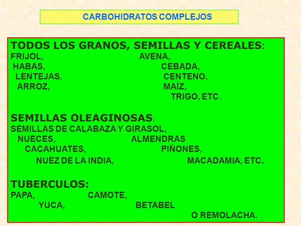 TODOS LOS GRANOS, SEMILLAS Y CEREALES: