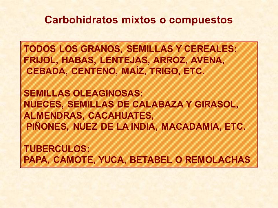 Carbohidratos mixtos o compuestos