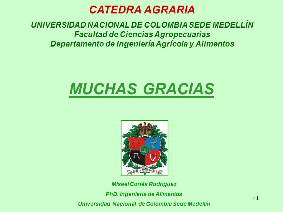 MUCHAS GRACIAS CATEDRA AGRARIA