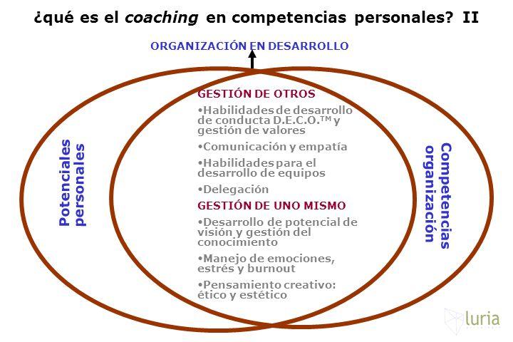 ¿qué es el coaching en competencias personales II