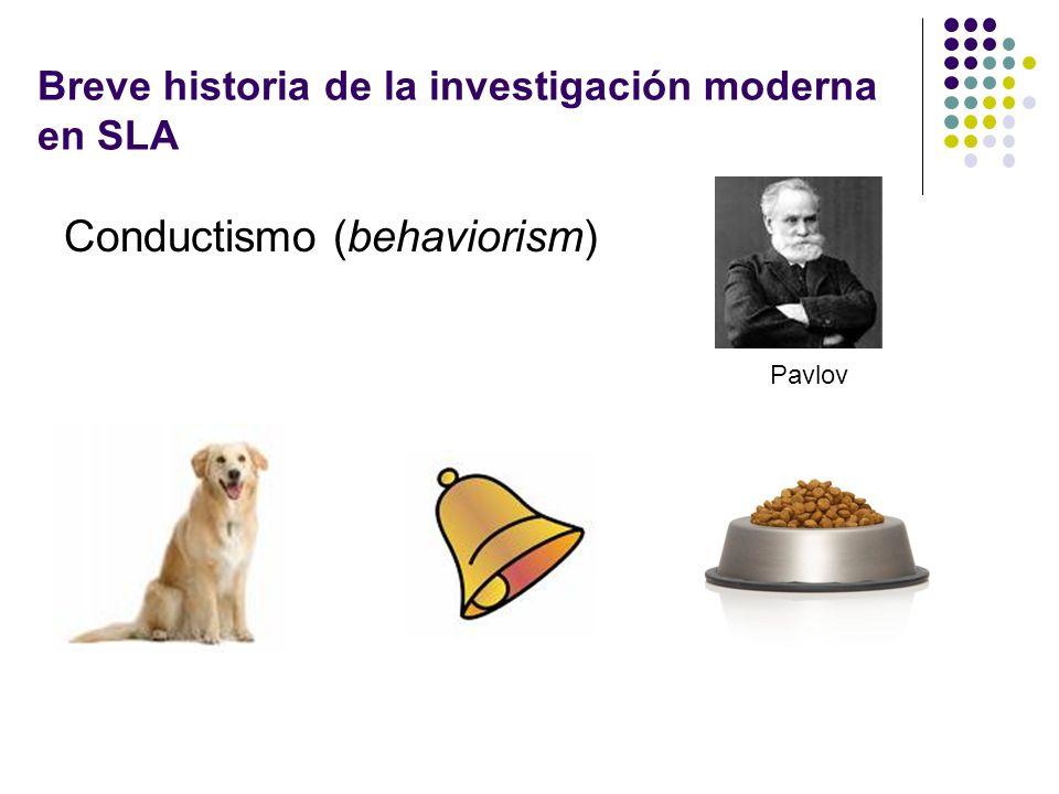Breve historia de la investigación moderna en SLA