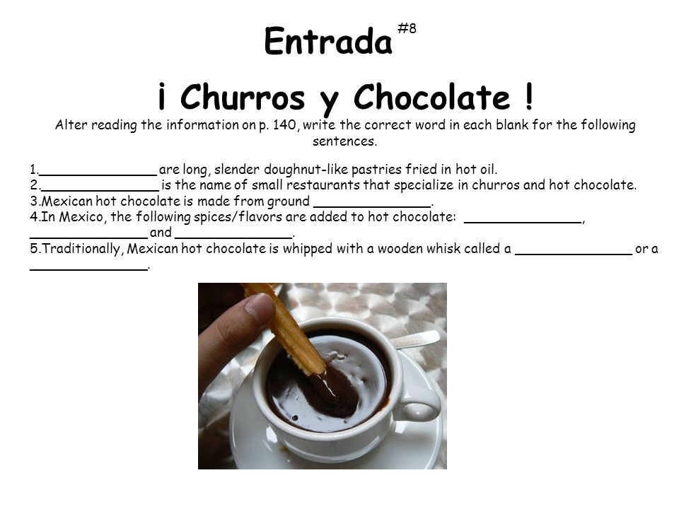 Entrada ¡ Churros y Chocolate ! #8