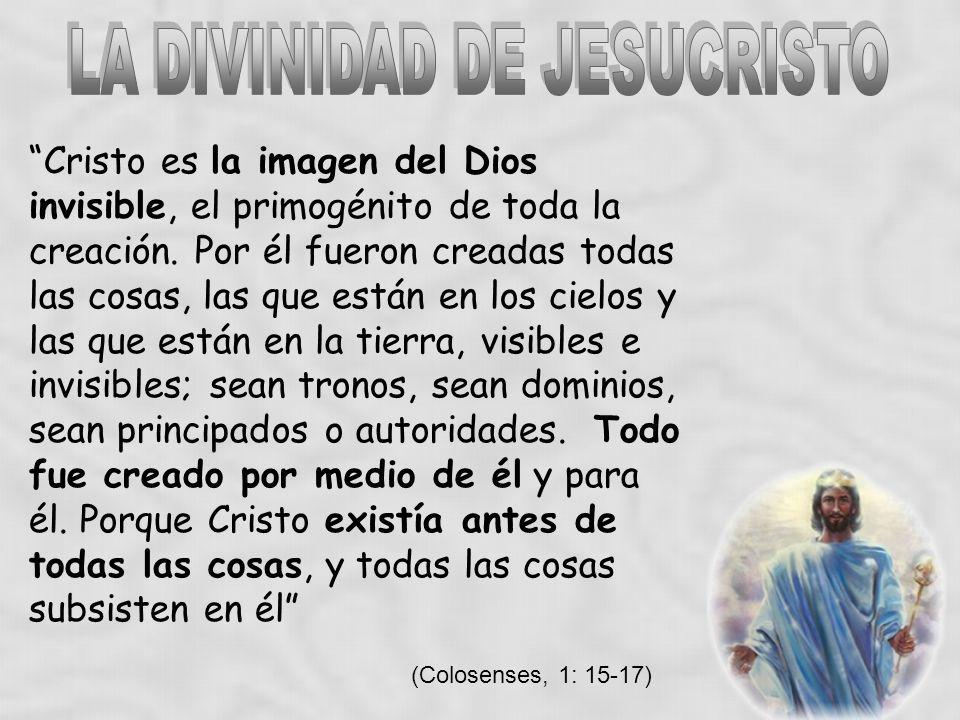 LA DIVINIDAD DE JESUCRISTO