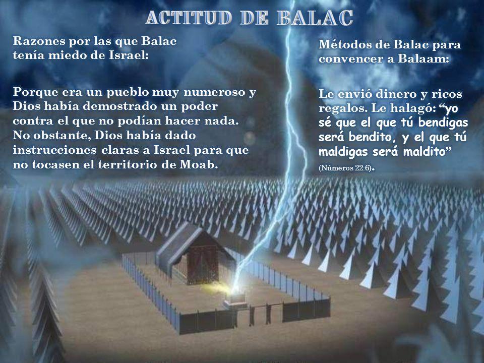 Razones por las que Balac tenía miedo de Israel: