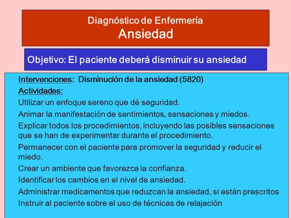 Diagnóstico de Enfermería Ansiedad