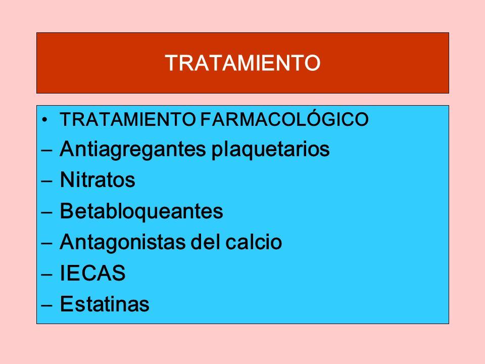 Antiagregantes plaquetarios Nitratos Betabloqueantes