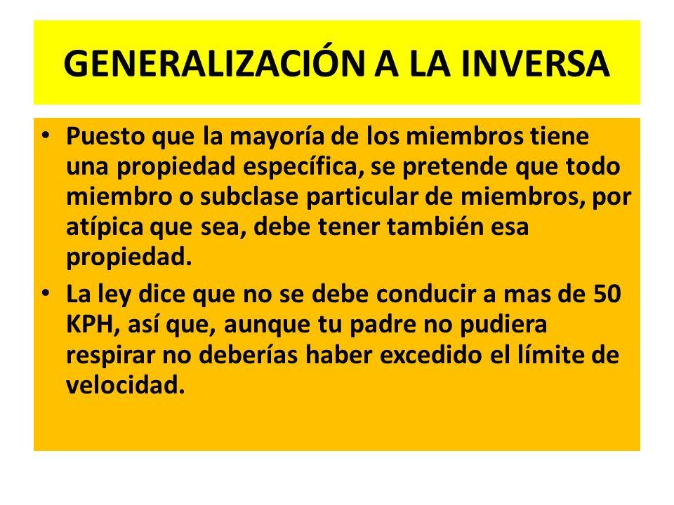 GENERALIZACIÓN A LA INVERSA