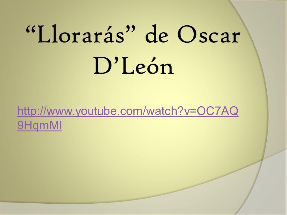 Llorarás de Oscar D'León