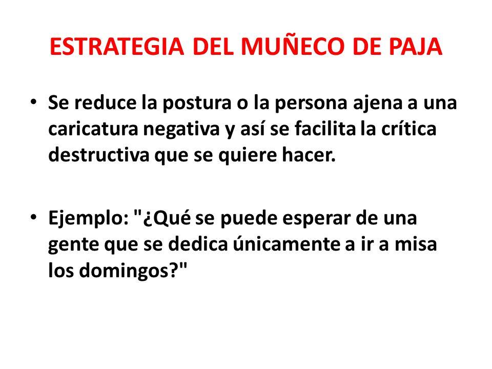 ESTRATEGIA DEL MUÑECO DE PAJA