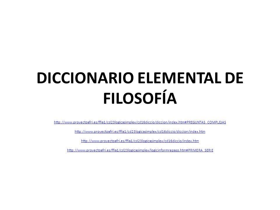 DICCIONARIO ELEMENTAL DE FILOSOFÍA
