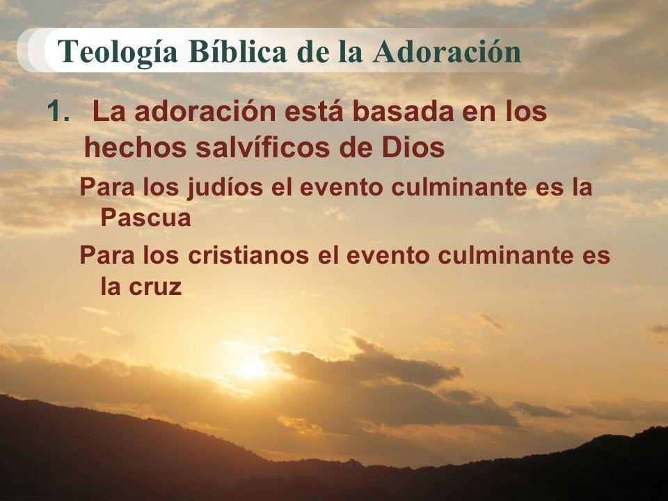Teología Bíblica de la Adoración