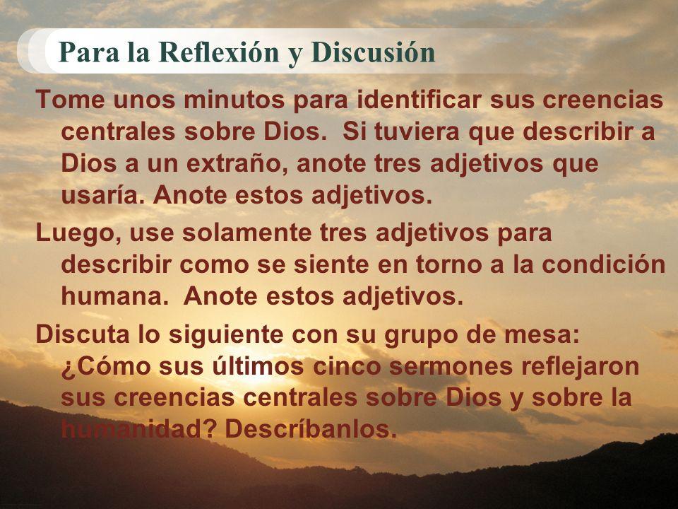 Para la Reflexión y Discusión