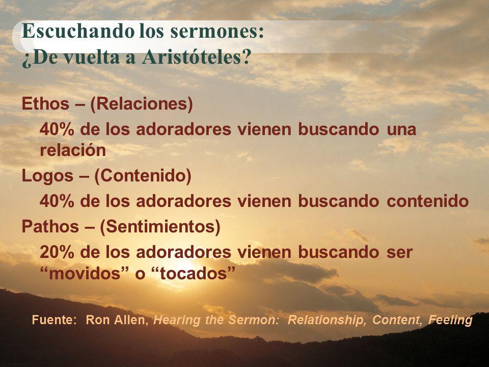 Escuchando los sermones: ¿De vuelta a Aristóteles