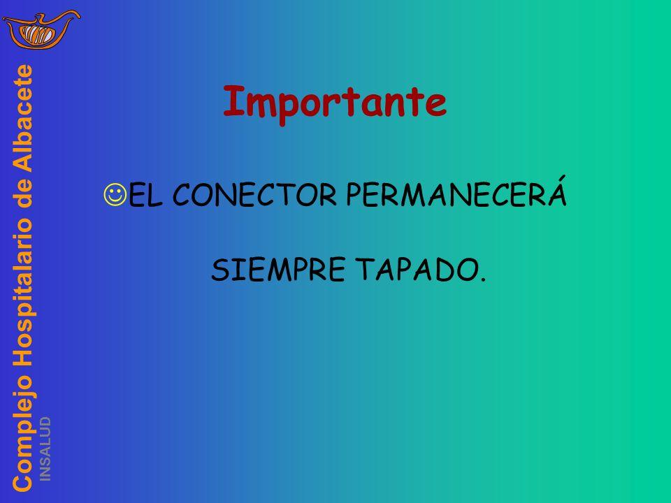 EL CONECTOR PERMANECERÁ SIEMPRE TAPADO.