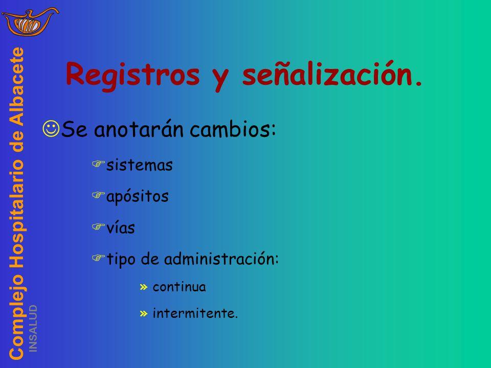 Registros y señalización.
